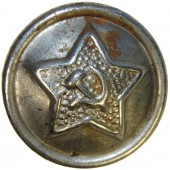 Soviet Red Army steel buttons M 41, 14 mm for gymnasterka and headgear