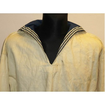 Soviet RKKF- navy white summer shirt for enlisted personnel. Espenlaub militaria