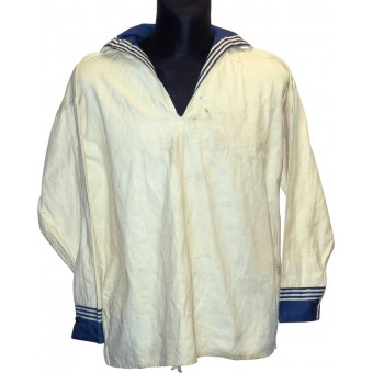 Soviet RKKF- navy white summer shirt for enlisted personnel