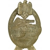Tank Assault Badge by R. Souval / Panzerkampfabzeichen in Bronze silver class R.S marked