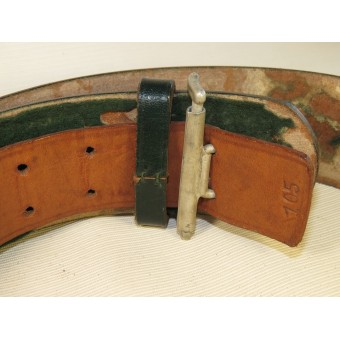 Third Reich Forestry official leather belt and buckle. Reichsforstbeamte. Espenlaub militaria