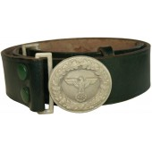 Third Reich Forestry official leather belt and buckle. Reichsforstbeamte