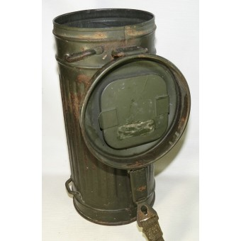 Waffen SS or Wehrmacht Heer/ German army gasmask with canister.. Espenlaub militaria