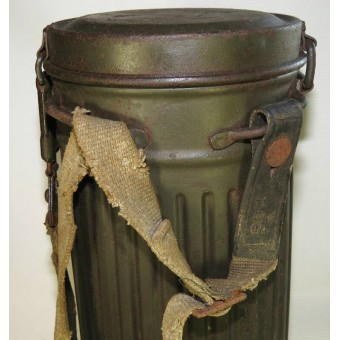 Waffen SS or Wehrmacht Heer late war issue M 39 gasmask canister. Espenlaub militaria
