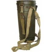 Waffen SS or Wehrmacht Heer late war issue M 39 gasmask canister