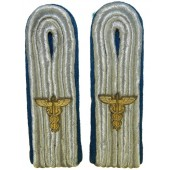 Wehrmacht Heer TSD -Truppen sonder dienst service slip on shoulder boards with Caduceus cypher