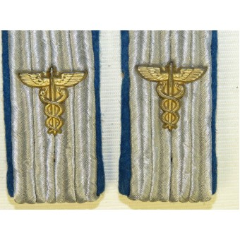 Wehrmacht Heer TSD -Truppen sonder dienst service slip on shoulder boards with Caduceus cypher. Espenlaub militaria
