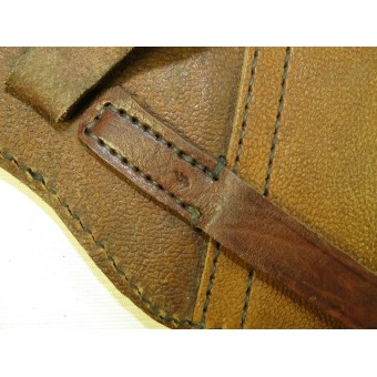 WW2 Soviet Russian TT-33 pebbled brown leather holster. Espenlaub militaria