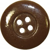 3rd Reich button, ceramic, brown, 23 mm.