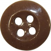 Ceramic brown button, 14 mm.