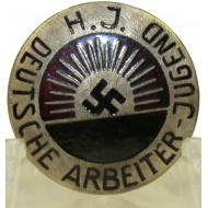Deutsche Arbeiter Jugend H.J. First type Hitlerjugend badge