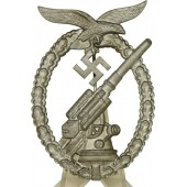 FLAK Luftwaffe badge, maker Adolf Scholze, Grunwald. Zinc