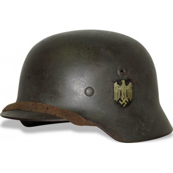 German helmet M 40 ET 66 single decal Wehrmacht Heer. Espenlaub militaria