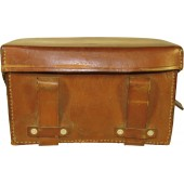 Luftschutz Medical pouch, brown leather.