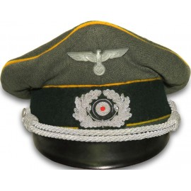 German Wehrmacht combat officer's Cavalry Visor hat