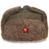 Soviet M40 winter hat Ushanka, 1940 year dated by Samoilova factory.