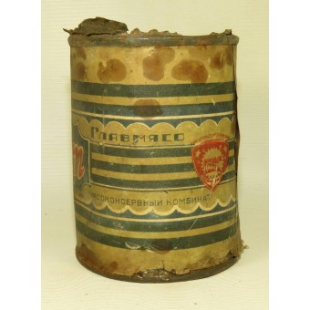 Rare RKKA meat can Liver Pate with butter, pre-war. Espenlaub militaria