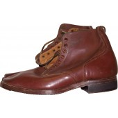 Soviet Red Army  lend-lease leather shoes made from brown leather. Mint.