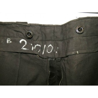 Soviet Russian armored crew personnel or dispatch riders leather trousers. Espenlaub militaria