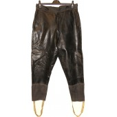 Soviet Russian armored crew personnel or dispatch riders leather trousers