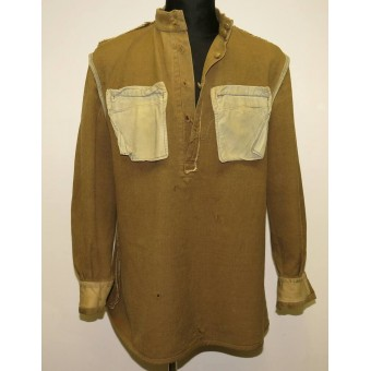 Soviet Russian M 43 lend lease wool gymnasterka jacket in salty condition. Espenlaub militaria