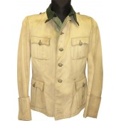 Summer tunic for officer of Waffen SS or Wehrmacht.