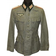 Summer Wehrmacht tunic M 43, official issue for officers in rank Lieutenant of artillery