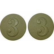 Buttons for shoulder straps with company number, Wehrmacht. 3rd comp.