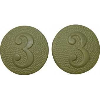 Buttons for shoulder straps with company number, Wehrmacht. 3rd comp.. Espenlaub militaria