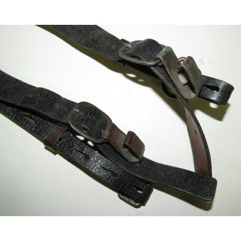 Leather combat Y strap for Wehrmacht or Waffen SS. Espenlaub militaria