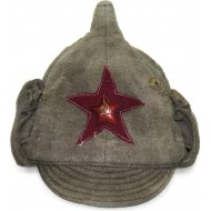 Red Army Infantry Winter hat M 27/32 moleskin made