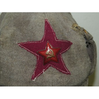 Red Army Infantry Winter hat M 27/32 moleskin made. Espenlaub militaria