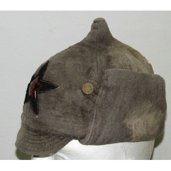 Red Army  Winter hat M 27/32 moleskin made. Espenlaub militaria
