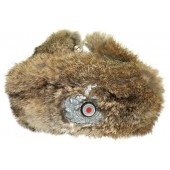 Wehrmacht Winter fur cap dated 1943