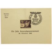 An envelope of the first day: Ein Jahr Generalgouvernement