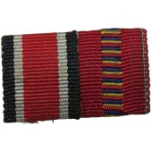 Ribbon bar for Iron cross and Crusade Against Communism Medal