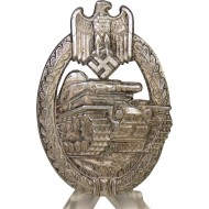 WW2 German tank assault badge, silver class