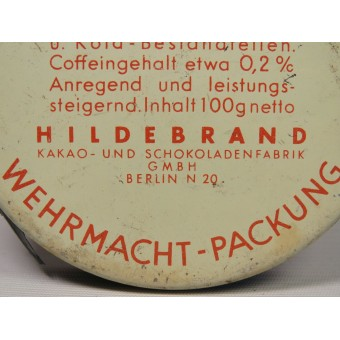 Scho-ka-kola chocolate tin 1941 Wehrmacht Packung with chokolate inside