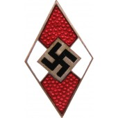 Hitler Youth M1/128 RZM member badge, issued before January 1939