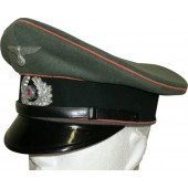 Panzer visor hat for enlitsed men of 7th armored regiment of the Wehrmacht