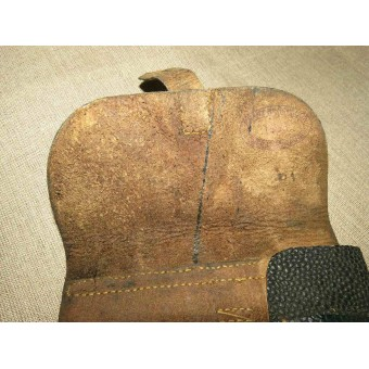 German P -38 black pebbled leather pistol holster. Espenlaub militaria