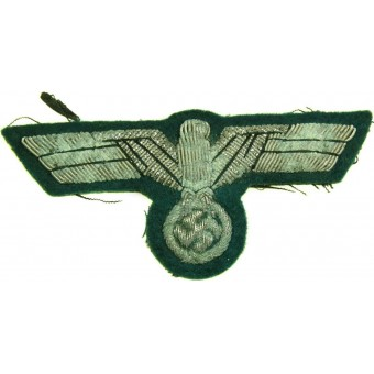 Wehrmacht officers or highest NCOs bullion embroidered breast eagle. Espenlaub militaria