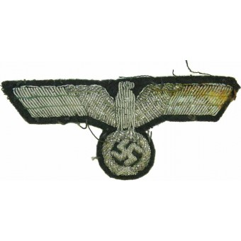 WW2 German Wehrmacht Heer officers or highest NCOs bullion embroidered breast eagle. Espenlaub militaria