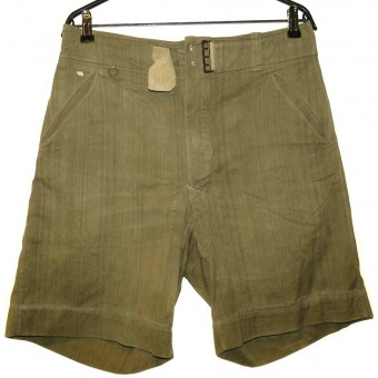 DAK tropical shorts trousers in salty condition. Espenlaub militaria