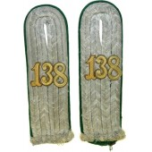 Heeres Gebirgsjager Regiment 138 Lieutenants shoulder boards