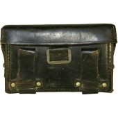 Hitler Jugend black leather medical pouch