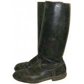 Long black leather boots for RKKA female personnel
