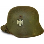 M 18 Transititional single decal helmet, 1943 year reissue