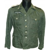 M 41 Drillich Feldbluse- Pionier in 7 Infanerie Regiment