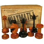 Pre war made Chess Set in original box